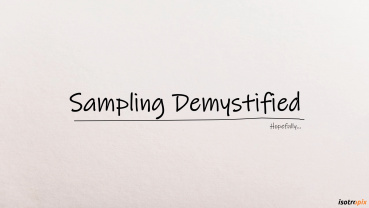 Sampling Demystified